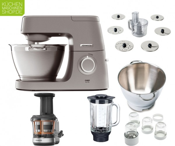 Slow Juicer Paket Kenwood Elite Chef KVC 50 5320S mit Deutscher Garantie