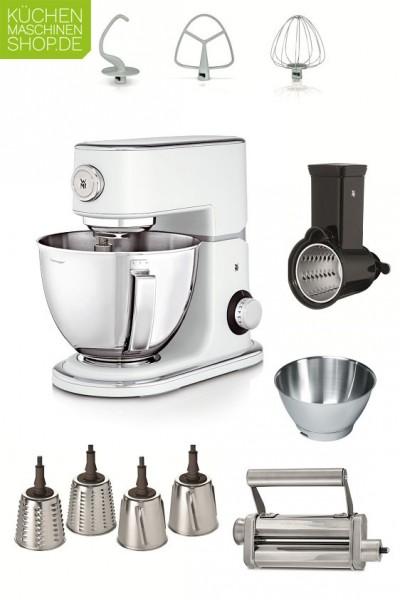 Frisch und komplett ausgestattet ist die WMF Profi Plus Küchenmaschine in Pearl White mit unserem Profi-Paket