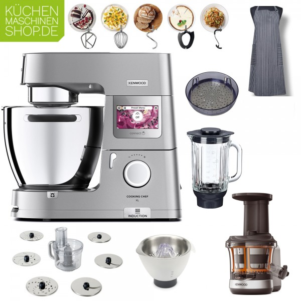 Slow Juicer Paket Kenwood KCL 95 Cooking Chef XL Connect