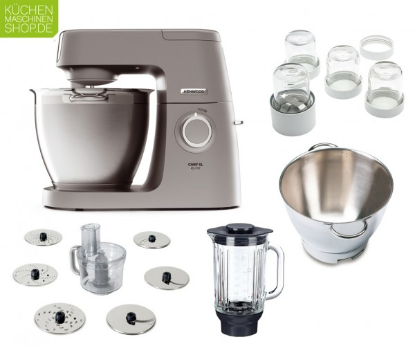 Super Paket Kenwood Elite Chef XL KVL 60 6320S mit Deutscher Garantie