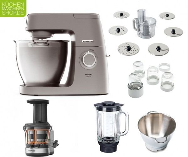 Slow Juicer Paket Kenwood Elite Chef XL KVL 60 6320S mit Deutscher Garantie